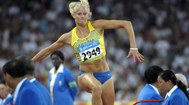 Carolina Klüft under OS i Beijing 2008. Foto: TT