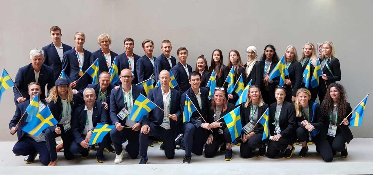 Den meste os simmaren ar svensk