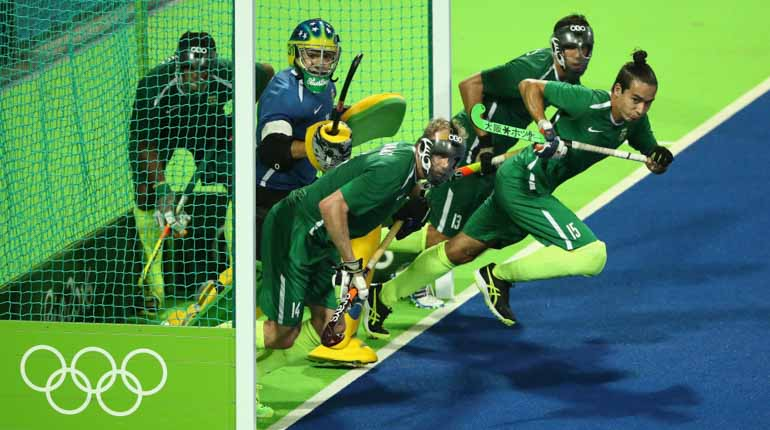 Det brasilianska herrhockeylaget under OS i Rio 2016. Foto: Getty
