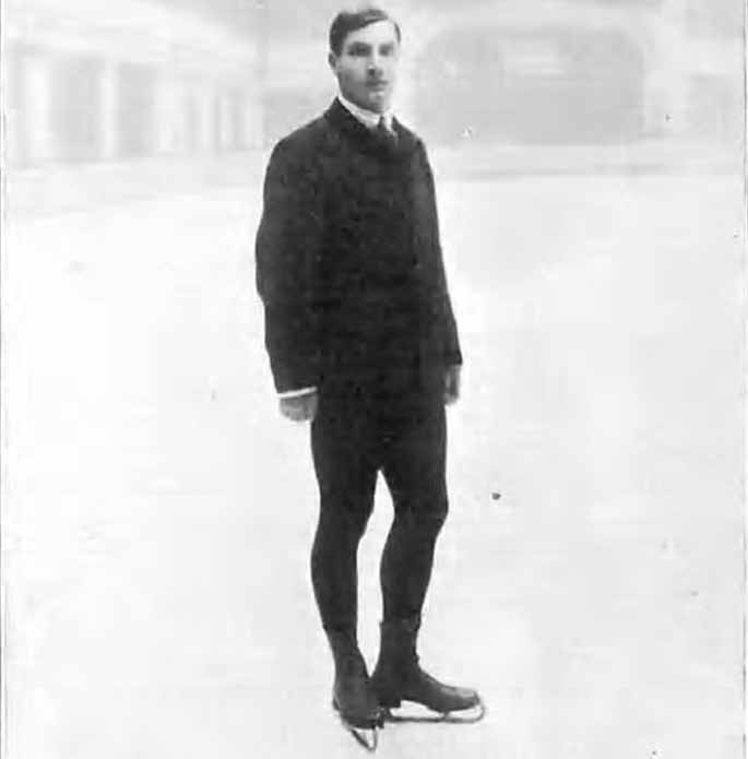 Ulrich Salchow vid OS i London 1908. Foto: Wikicommons
